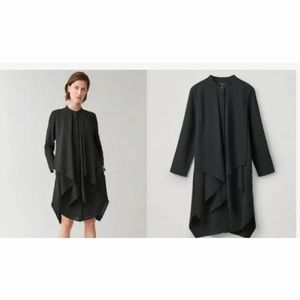 COS Black Layered Long Sleeve Dress